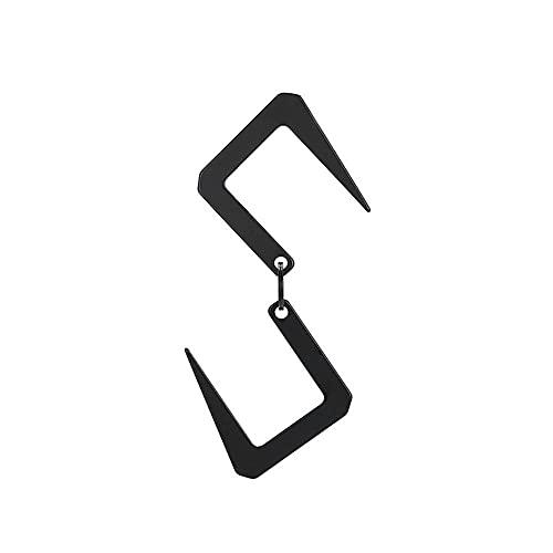 NAYAO Gancho Colgante portátil del Tenedor de la luz Que acampa del Acero Inoxidable, suspensión en Forma de S del Almacenamiento de los Clips de la caída
