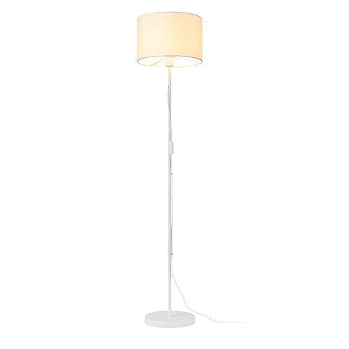 UQD Lámpara de pie, para la sala de estar moderna lámpara de pie lámpara de lectura Torchiere luz de pie alto poste de luz elegante de tela blanca son fáciles de organizar