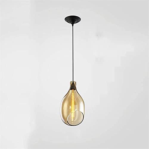 HJW Decorative Lighting Chandelier Nordic Creative Interior Decorative Ceiling Illumination Fixtures Restaurant Kitchen Island Pendant Light Led Light Glass Lampshade Hang Lamps for Bar Coffee House