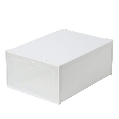 Zapatero, Unidades organizadoras de Almacenamiento de Cubos de plástico, gabinete de Armario Modular con Puertas para Bricolaje, Incluye Dispositivo antivuelco(12 Piezas)