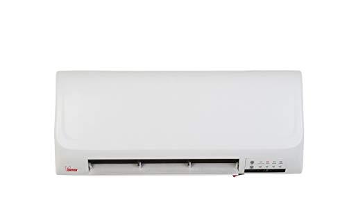 bimar HP101 Termoventilatore da Parete, Termoconvettore Elettrico Muro a Basso Consumo, Elementi Riscaldabili in Ceramica, 2 Livelli Potenza Riscaldamento e Funzione Ventilazione, Telecomando e Timer