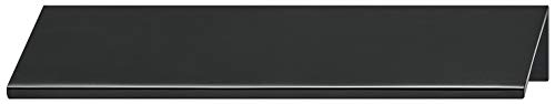 Gedotec Möbelgriff Küche Kantengriff Alu Schubladengriff für Möbel-Türen - SERO | Türgriff Aluminium schwarz matt | Schrank-Griff Länge 230 mm | 1 Stück - Griffleiste für rückseitige Verschraubung