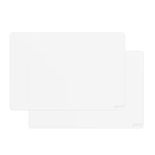 gasare, Extra Large, Thicker, Silicone Counter Mats, Kitchen Countertop Protector, Heat Resistant, Non Slip, Waterproof, Washable, 25 x 17 Inches x 1.4 mm, Set of 2, White Translucent