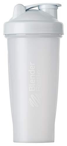 BlenderBottle Classic Shaker | Shaker Protéine | Bouteille d'eau |Blenderball | 820ml - blanc