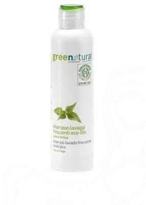 GREENATURAL Shampoing Huile de Lin & Ortie Idéal pour un usage fréquent - Nettoie le cuir chevelu en douceur - 250 ml