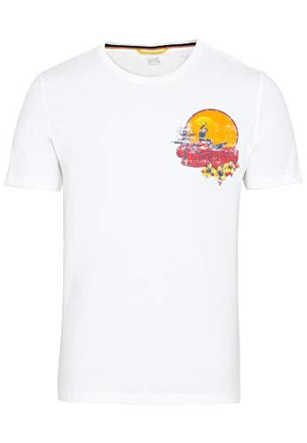 camel active Herren Halbarm T-Shirt, Offwhite, 3XL