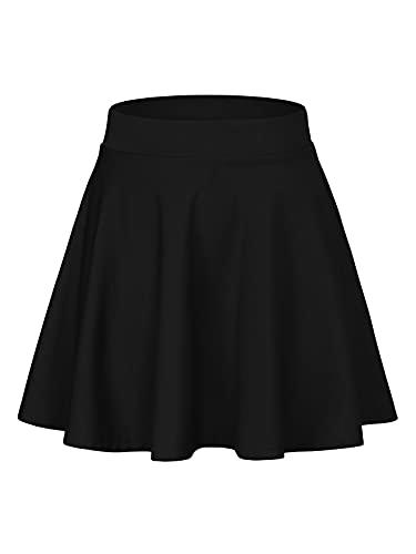 Century Star Women's Stretchy Flared Pleated Skater Skirt...