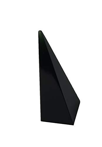 Soporte de anillo de pirámide de acrílico universal con piedra de nacimiento de oro rosa para exhibición de joyas (negro, número de soportes 1)