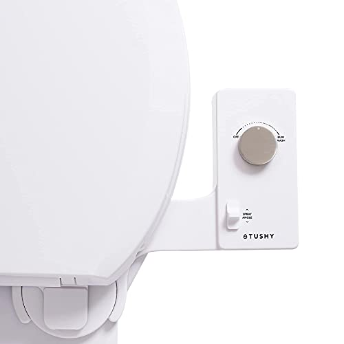 Tushy Classic 3.0 Bidet Toilet Seat Attachment - A Non-Electric Self Cleaning Water Sprayer with Adjustable Water Pressure Nozzle, Angle Control & Easy Home Installation (Platinum)