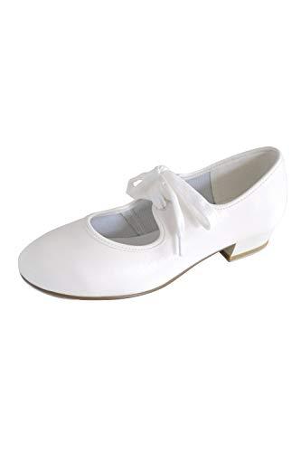 Roch Valley Chaussures à Clapet à Talon bas pour Enfant, Blanc, 21.5 EU