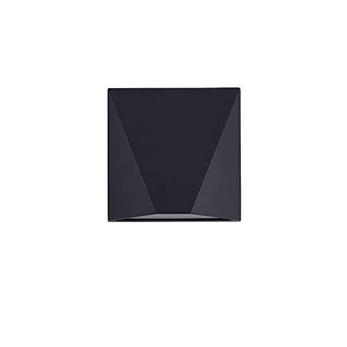MAYTONI DECORATIVE LIGHTING Foco LED de pared exterior negro moderno, marco de metal, Downlight, luz blanca cálida, 5 W, 220-240 V, O577WL-L5B