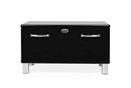 Tenzo 5291-033 Malibu Designer Garderobenbank Holz, schwarz, 41 x 86 x 47 cm
