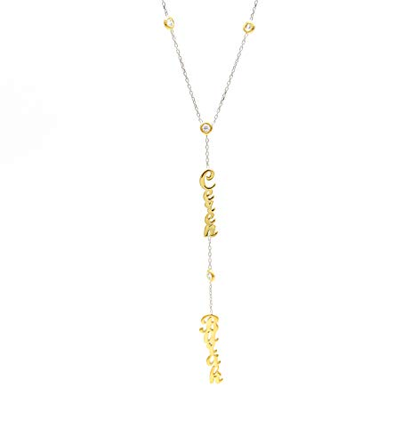 Namenkette - Halskette mit zwei Namen - Zweier Namenskette - Individueller Schmuck - Personalisierte Namenskette