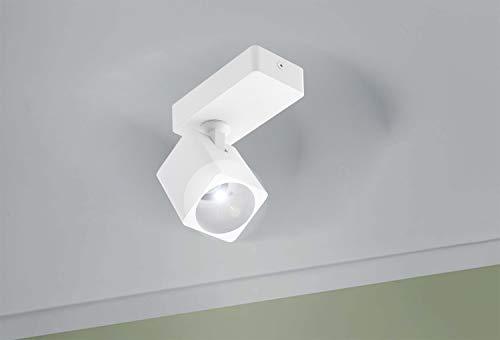 CGC Foco de montaje en superficie cuadrado blanco Foco de techo GU10 con cabezal ajustable