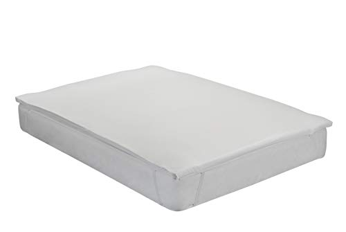 Classic Blanc - Topper/Sobrecolchón viscoelástico de 3 cm de altura. Funda lavable. Cama 180 - 180 x 200 cm(Todas las medidas)