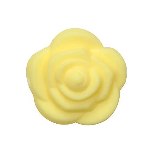 Mordedor de juguete 10 piezas mini perlas de silicona de flor de rosa libre de BPA para bricolaje Baby Dentición joyería collar accesorios juguete bebé mordedor (color: 8)
