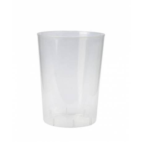 TELEVASO 48 Unidades - Vaso Sidra (PP) 500 ml. - Reutilizable TRANSLÚCIDO - EMBOLSADO 16UDS - Precio Unidad 0,50€