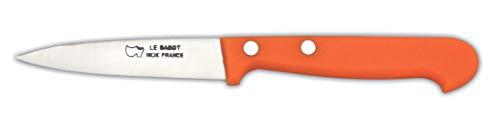 AU SABOT Lot de 2 Couteaux Offices Manche ABS Orange Lame INOX 8 cm