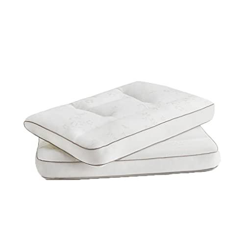 LYUN Almohada Lavable de algodón, Almohadas de Cama 2 Paquete Adulto Columna Cervical de la Columna de Almohadas para Dormir para el estómago y el Lado Lateral