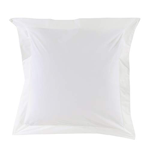 Essix Home Collection - Funda para Almohada, 65 x 65 cm, Color Blanco