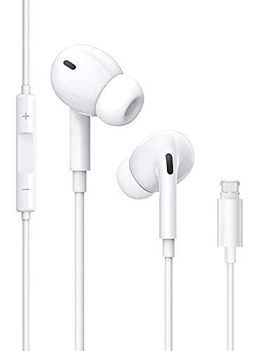 Écouteurs, Ecouteurs Intra-Auriculaires pour iPhone 8, stéréo HiFi écouteurs filaires avec Microphone et contrôle du Volume, compatibles avec iPhone 8/8Plus/7/7Plus/12/12Pro/SE/11/11Pro/ XS/X/XR