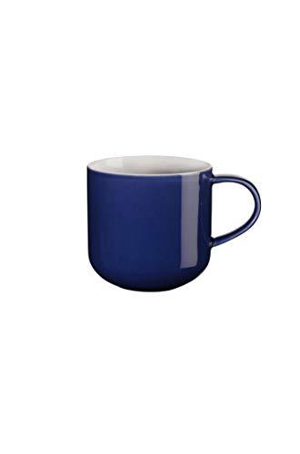 ASA Henkelbecher, blau COPPA D. 9,2 cm, H. 9,5 cm, 0,4 l. 19100327 Neuheit 2020 ! Vorteilsset beinhaltet 2 x den genannten Artikel und Set mit 4 EKM Living Edelstahl Strohhalme