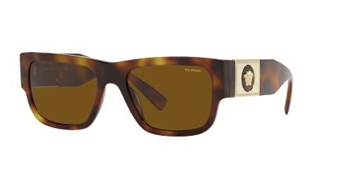 Versace VE4406, marrón (Habana/Marrón Polarizado), Talla única