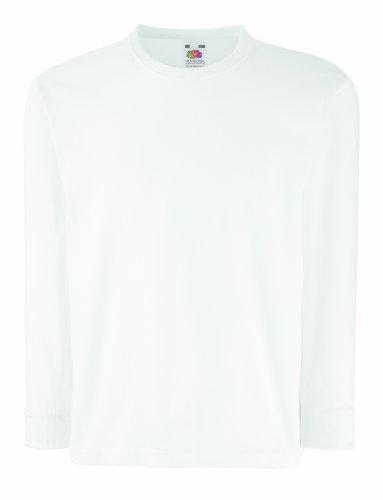 Kinder Langarm T-Shirt Kids Shirt - Shirtarena Bündel 128,Weiß
