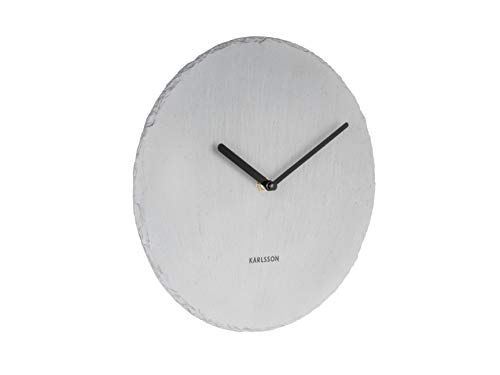Karlsson Slate Uhr, Wanduhr, Schiefer, Grau, One Size