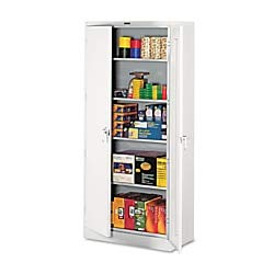 Big Sale Best Cheap Deals Tennsco 1870 36 by 18 by 78-Inch Deluxe Steel Storage Cabinet with 4 Adjustable Shelves, Light Gray