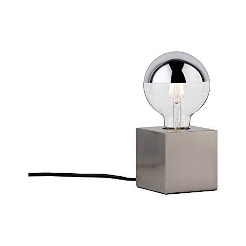 Paulmann 79730 tafellamp Kura max. 20 Watt bedlampje ijzer geborsteld tafellamp metaal E27