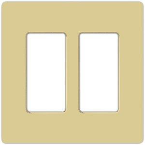 Lutron CW-2-IV 2-Gang Ivory Wall Plate