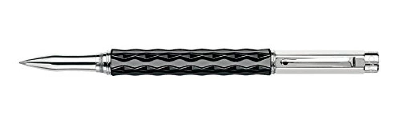 Caran d'Ache Varius Silver Plated Rollerball Pen - Ceramic Black