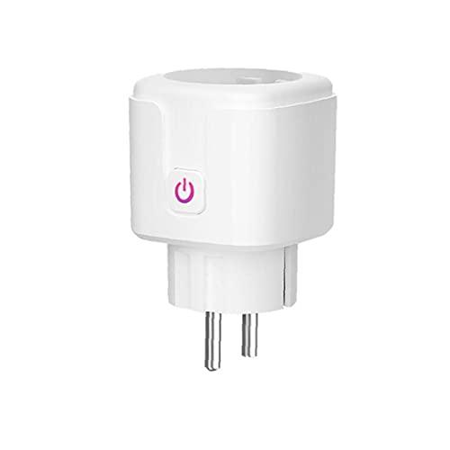 Socket inteligente, enchufe wifi, cable de control remoto 16A mini interruptor, medición de consumo de energía, blanco