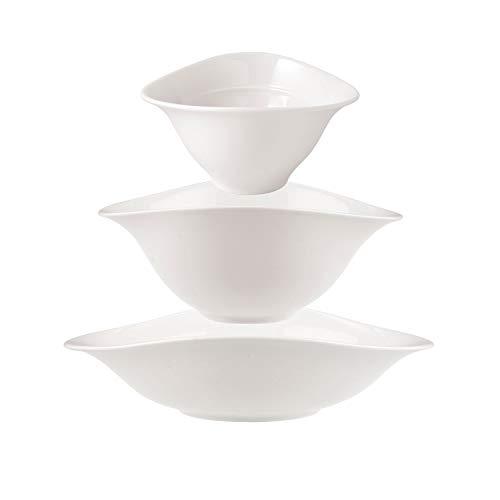 Villeroy und Boch - Vapiano Schalen-Trio, 6 tlg., ideal für das Dinner zu zweit, Premium Porzellan, spülmaschinen-, mikrowellengeeignet, weiß