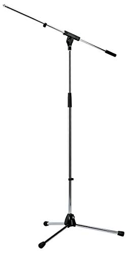 "König & Meyer 21060-300-02 soporte para micrófono Soporte recto para micrófono - Soportes para micrófono (Soporte recto para micrófono, Base de trípode, Cromo, Acero, 3/8"", 92,5 cm)"