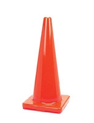 (6 Cones) CJ Safety 28' Orange PVC Traffic Safety Cones - No Reflective Collars (6 Cones)