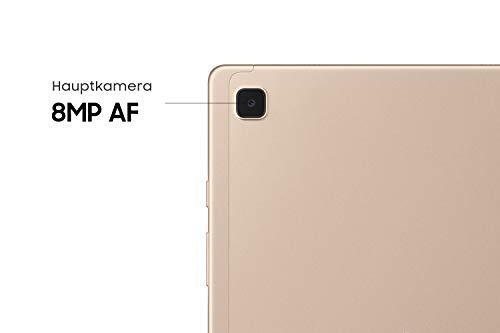 Samsung Galaxy Tab A7, Android Tablet, WiFi, 7.040 mAh Akku, 10,4 Zoll TFT Display, vier Lautsprecher, 32 GB/3 GB RAM, Tablet in Gold