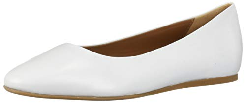 Aquatalia Women's Cierra Nappa Ballet Flat, White, 10 M US