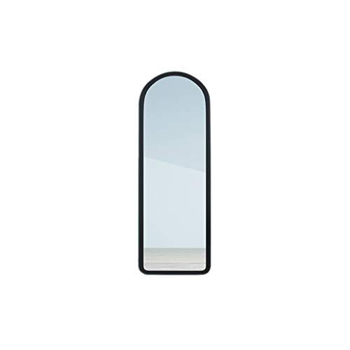 SZQ Wandspiegel, wandspiegel, wandspiegel, voor meisjes, kinderkamer, grote spiegel, slaapkamerspiegel, kleur spiegel badkamerspiegel 44 * 120CM Zwart