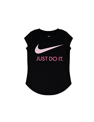 Nike 36F245023 - Camiseta para niña de color negro gris 5 años