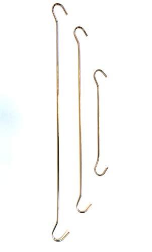 ShopHerzog 10er Set Abhängehaken Dekohaken Doppelhaken S-Haken, aus verzinktem Draht, in Längen von 15, 25 und 30 cm (30)
