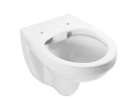 ADOB, spülrandlose wandhängende WC Keramik Toilette weiss inkl. Schallschutzmatte, 28012