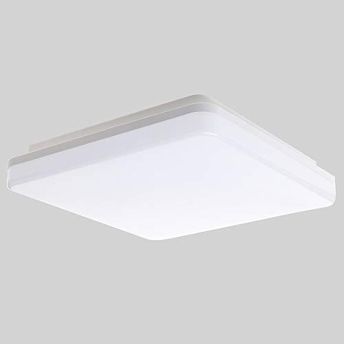 SUNGNY Lighting® Deckenleuchte LED Schlafzimmer Deckenlampe IP65 Bad Lampe 18W 1500LM 4000K Neutralweiß Moderne 220V-240V für Wohnzimmer Badezimmer Balkon Flur Küche (Platz, 18W)