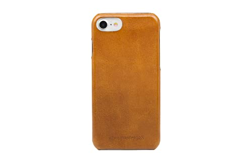 dbramante1928 - Tune Lederhülle - Kompatibel mit iPhone 8/7/6 - Hülle aus robustem, hochwertigem Leder - Braun