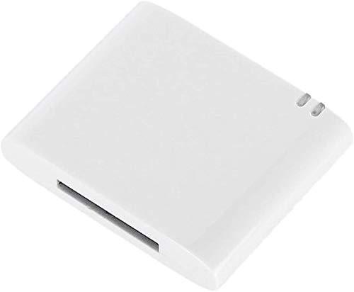 Excellentas Bluetooth Audio Adapter 30 polig pin Receiver Empfänger kompatibel mit iPhone, Samsung, Huawei, Xiaomi, LG, Nokia, HTC, Sony Xperia etc. für Sounddock, Dockingstation Audio Anlage in Weiß