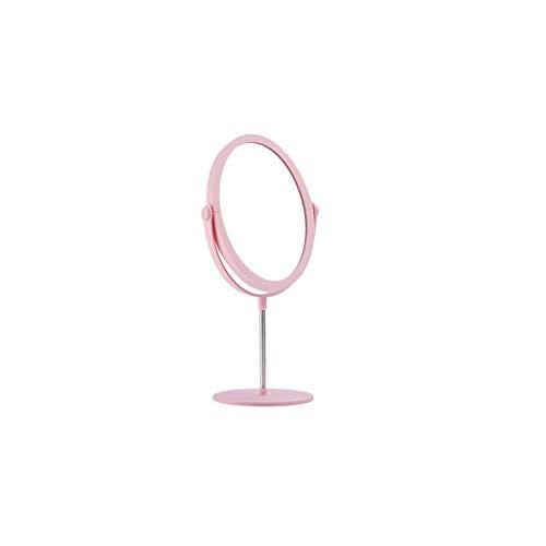 LSXLSD Miroir de Bureau 37.5x16cm de beauté en Plastique Rose Simple de Miroir de vanité de Voyage de Miroir de beauté HD