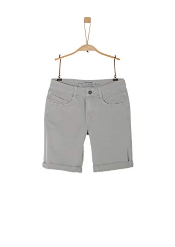s.Oliver Junior Jungen Hose Kurz Shorts, Light Grey, 170 / REG
