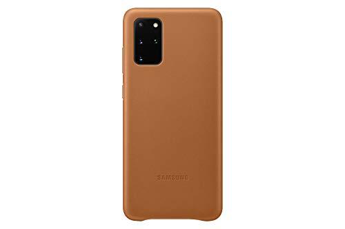 Samsung Leather Smartphone Cover EF-VG985 für Galaxy S20+   S20+ 5G Handy-Hülle, echtes Leder, Schutz Hülle, stoßfest, premium, braun