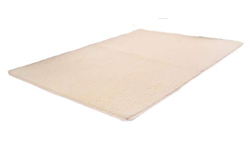 ZhuiKunA Tapis de sol De Luxe Big Shaggy Salon Confortable Moquette Anti-dérapage Absorbant Beige Jaune (80x120 cm)